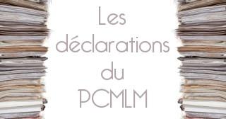 Lien vers la page listant toutes les déclarations du PCMLM