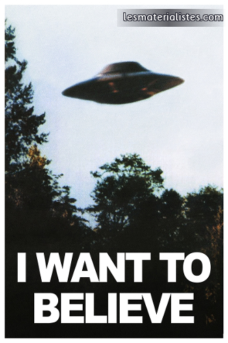 "X-Files : affiche ""I Want to Believe"""