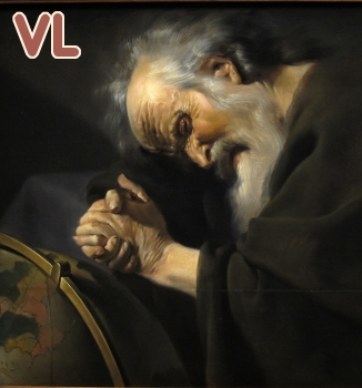 tableau de Johan Moreelse (1630) Héraclite