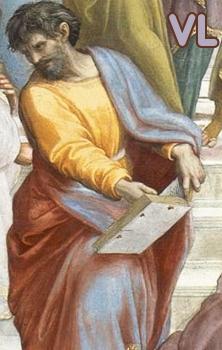 Détail de L'Ecole d'Athènes de Raphaël dépeignant Anaxagore