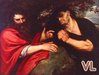 tableau de Peter Paul Rubens (1603) Démocrite et Héraclite