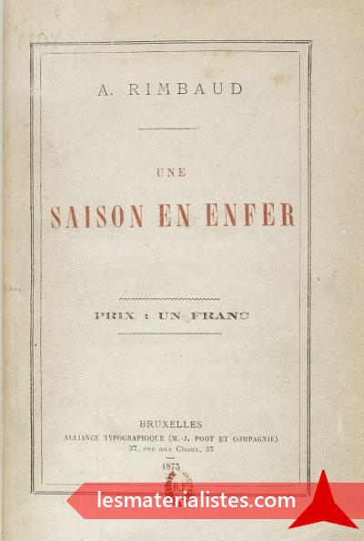 Les Illuminations Darthur Rimbaud 6e Partie Le Vertige