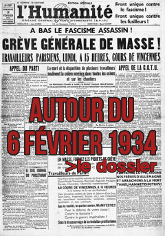 Lien vers la page spéciale : Autour du 6 février 1934