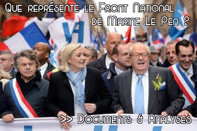 Liste des articles sur la grande question : Que représente le Front National de Marine Le Pen ?