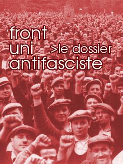 Lien vers la page spéciale : Le Front uni antifasciste