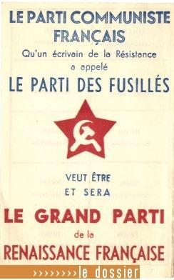 Lien vers le dossier : Le Parti Communiste français
